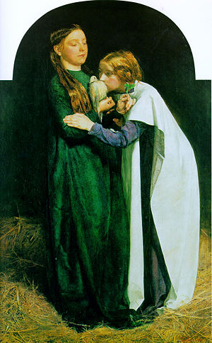 Doves as symbols - J. E. Millais: The Return of the Dove to the Ark (1851)