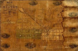 Milton, Ontario - Milton, Ontario in 1858.