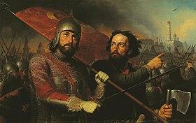 Ποζάρσκι και Μίνιν, οι δύο ήρωες της εκδίωξης των Πολωνών από τη Μόσχα.