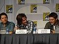 Misha Collins, Jared Padalecki & Jensen Ackles (4852590640).jpg