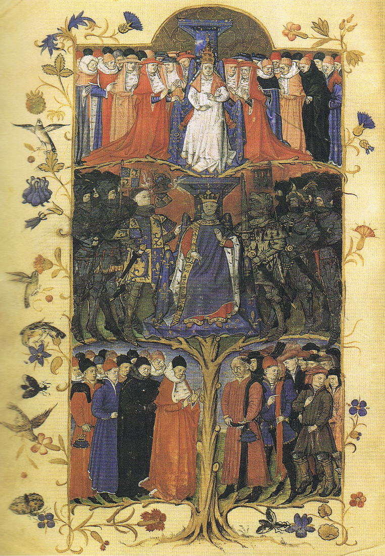 Mittelalterliches Ständebild 15. Jahrhundert