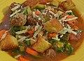 Mmm... Italian sausage soup (8078375968).jpg