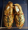 Moccasins, Cheyenne peoples, early 20th century, hide, glass - Fernbank Museum of Natural History - DSC09969.JPG