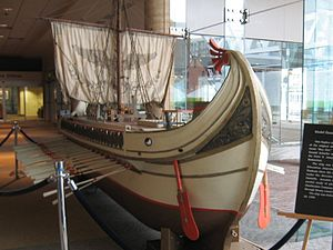 Ancient navies and vessels - Image: Model Roman Ship from the movie Ben Hur