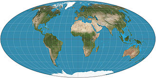 Mollweide projection map projection