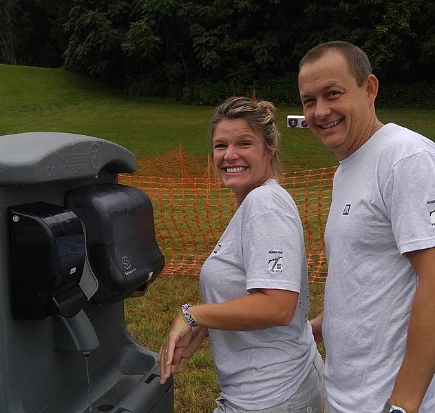 File:Monica Lynn Treece and friend checking out the handwashing stations 7-29-16 (28921464432).jpg