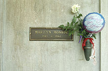 Grab von Marilyn Monroe auf dem Westwood Village Memorial Park Cemetery in Los Angeles
