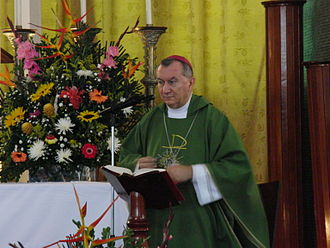 Pietro Parolin - Monsignor Parolin during a mass in Caracas, July 2012
