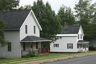 National Register of Historic Places listings in Iron County, Wisconsin - Image: Montreal Company Historic District Larger House Style August 2012