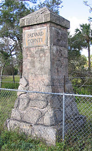 Monument US 1 Brevard Volusia county line