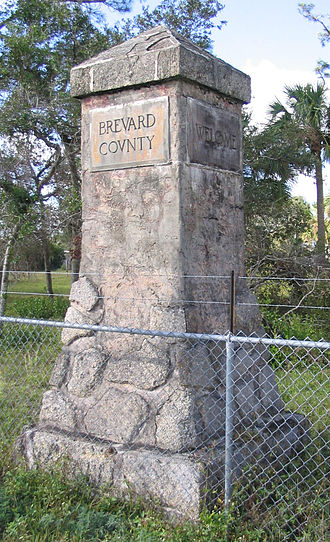 Brevard County, Florida - The Brevard-Volusia county line