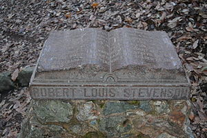 Robert Louis Stevenson State Park - Image: Monument on the site of Robert Louis Stevenson's cabin in Robert Louis Stevenson State Park