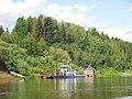 Motorboat by Verkhnaya Dvina, Kotlas - Toima - panoramio (46).jpg
