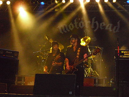 Motörhead performing at the Norway Rock Festival 2010 Motorhead-Live-Norway Rock 2010.jpg