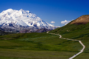 Down the valley towards Denali on this beautif...