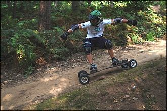 Blue Ridge Mountains Council - Mountainboarding is a popular feature on the High Knoll Trail