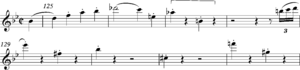 Diminished seventh - Image: Mozart K550 finale bars 125 30