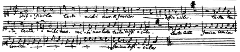 handwritten score of Mozart's musical piece,