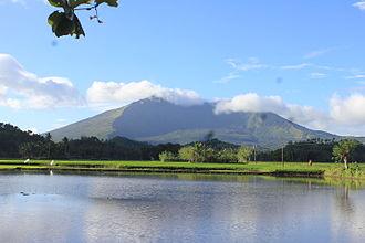 Lake Buhi - The lake with Mount Iriga in the background