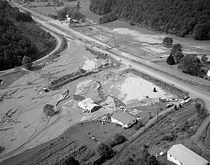 Nelson County, Virginia - Mudslide damage in Nelson County after the passage of Hurricane Camille