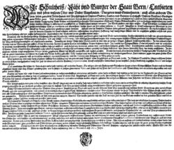 Muenzmandat Bern 1652