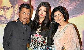 Mukta Barve - Barve with Aishwarya Rai Bachchan and Vikram Phadnis at music launch of Hrudayantar