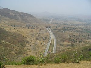 Mumbai Pune Expressway - Mumbai-Pune Expressway as seen from Sahyadris