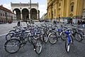 Munich - Bicycles in front of Odeonsplatz Feldherrnhalle - 5045.jpg