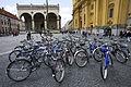 Munich - Bicycles in front of Odeonsplatz Feldherrnhalle - 5045.jpg