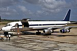 N55FB, Douglas DC-8F-55, (45678), Belize Air International, Belize City (BZE), 14-08-1991 (24498576748).jpg