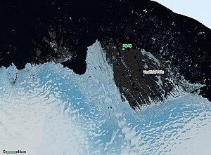 Princess Elizabeth Land - Image: NASA Landsat Sorsdal Glacier Bands 432