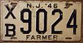 NEW JERSEY 1946 -FARMER LICENSE PLATE - Flickr - woody1778a.jpg