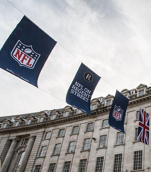 NFL on Regent Street, London, cropped
