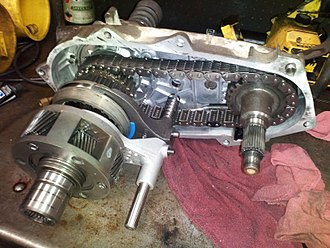 Transfer case - Inside of a 231 New Process Gear transfer case.  Part-time/Manual, shift on the fly