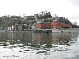 Citadel of Namur - Image: Namur, Meuse,parliament and the citadel