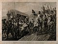 Napoléon Bonaparte saluting wounded enemy soldiers. Aquatint Wellcome V0017075.jpg