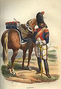 Napoleon Carabinier of 1810 by Bellange