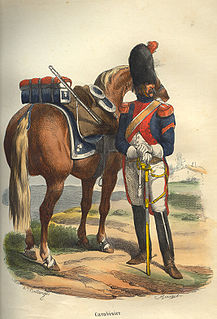 Carabinier light cavalry or gendarme armed with a carbine