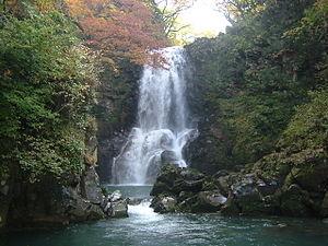 Kisakata, Akita - The Naso no Shirataki waterfall in Kisakata.
