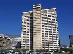 The Naspers Building, which is the headquarters of Naspers, the largest media company in Africa
