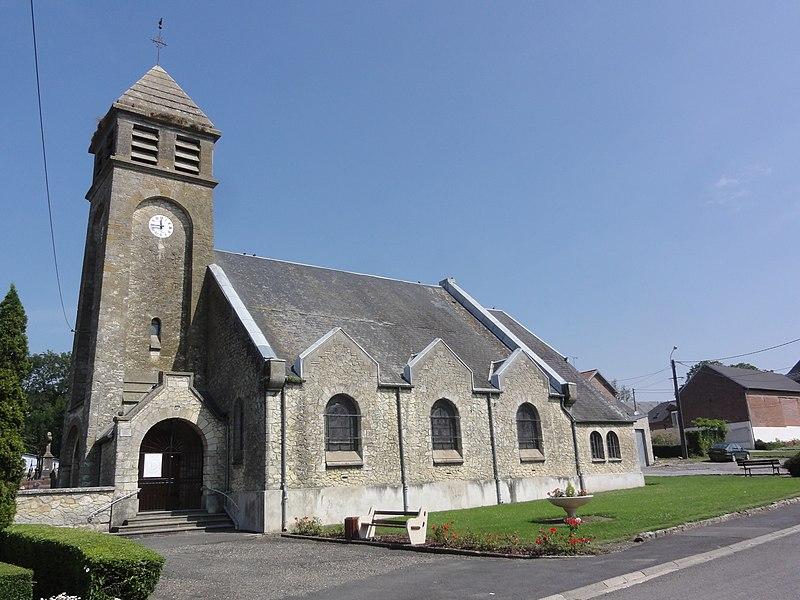 Nauroy (Aisne) église
