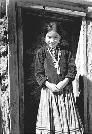 Navajo Nation - Navajo girl Canyon de Chelly, (1941) Ansel Adams