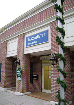 Nazareth Borough Hall in Pennsylvania.JPG