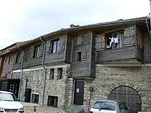 Wooden houses on Nesebar's peninsula
