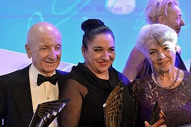 Nestroy 2014 10 Peter Matić Maria Happel Nicole Heesters Susanne Lietzow.jpg