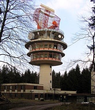 Radar tower - Image: Neunkirchner Hoehe Radarturm