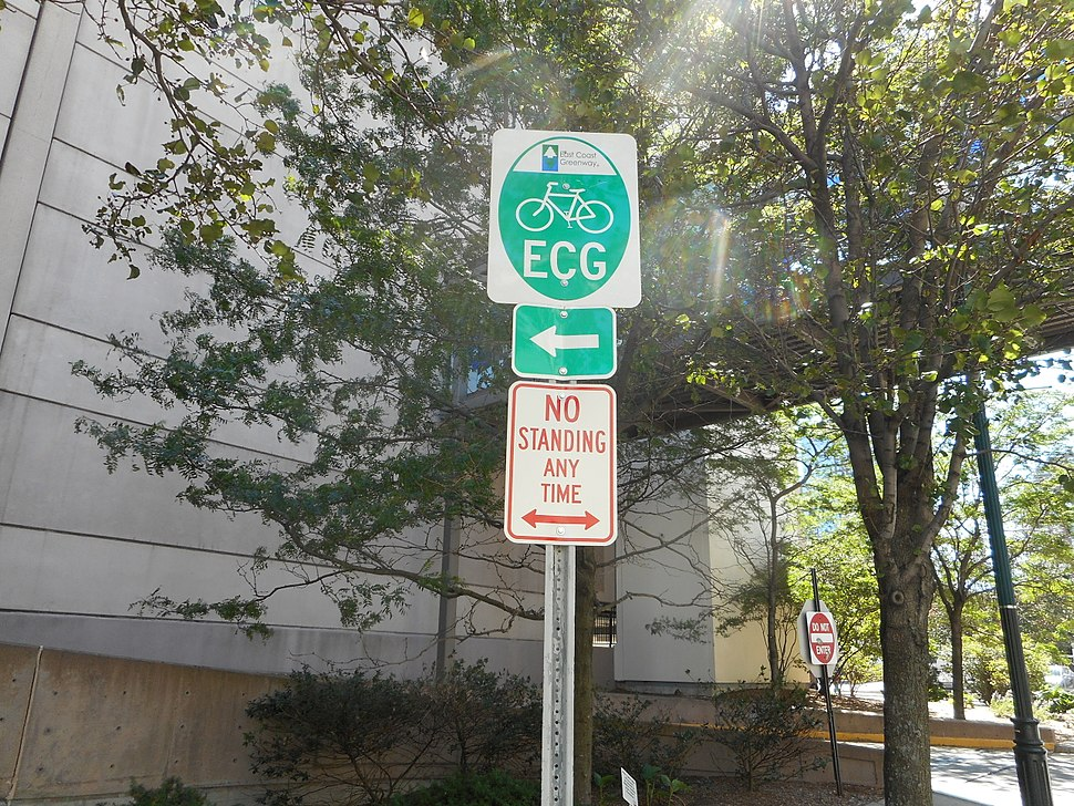 New Rochelle; ECG Bike Sign