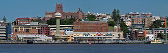 Newcastle, New South Wales - Central Newcastle in 2007, viewed from Stockton, across the harbour.