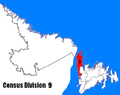 Newfoundland and Labrador Census Division No. 9 location.PNG