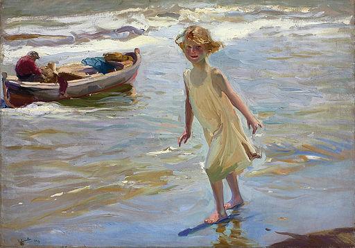 Niña en la playa by Joaquin Sorolla y Bastida, 1910, Christie's Images